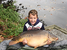 My lad with a 46lb mirror