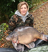 Rose with her 55lb mirror